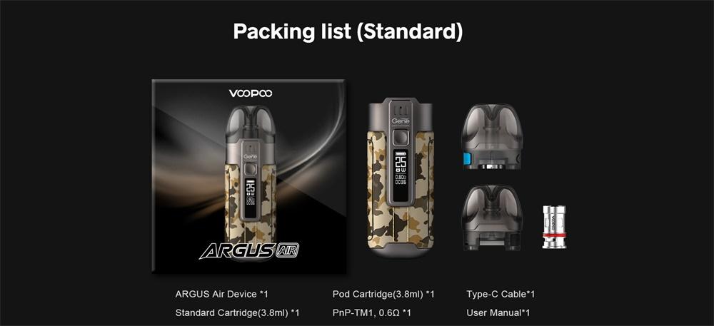 VOOPOO Argus Air Packing list