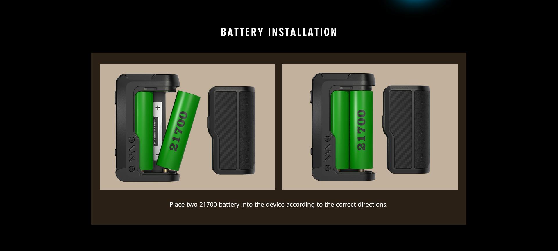 Vandy Vape Gaur-21 Mod - Battery Installation