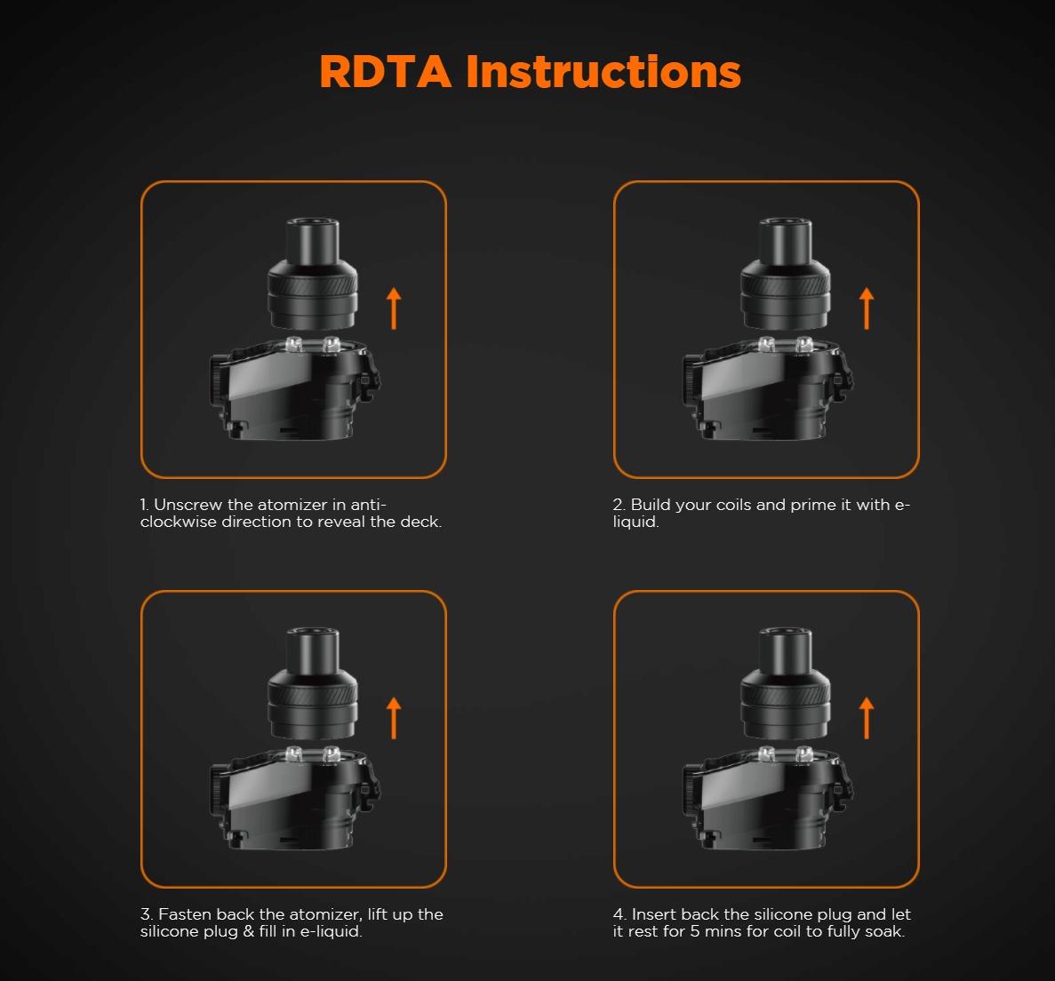 Kit de bônus Aegis Boost LE - Instruções RDTA