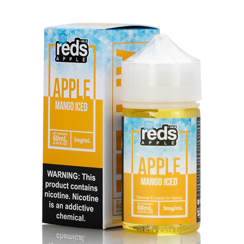 Vape 7 Daze Mango Iced Reds Apple E-Juice 60ml Bottle & Box