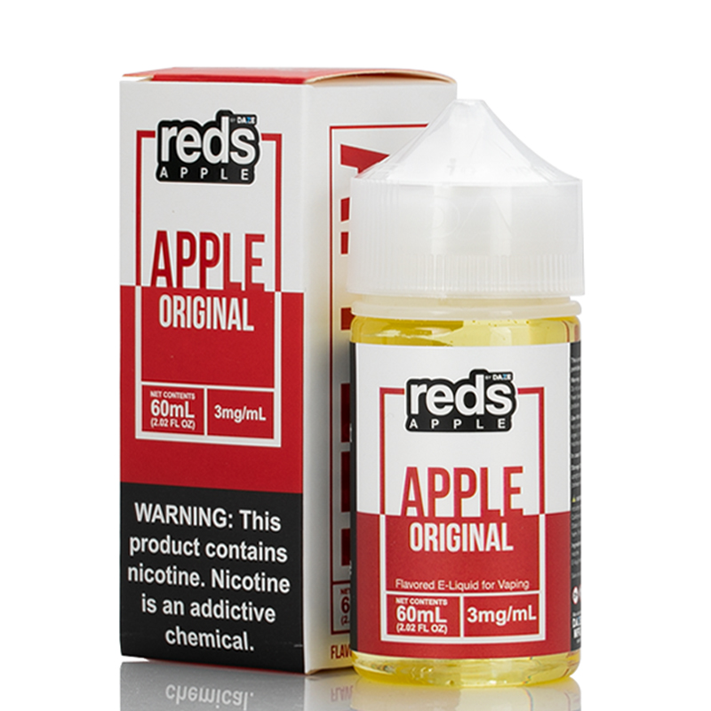 Vape 7 Daze Apple Reds Apple E-Juice 60ml Bottle & Box