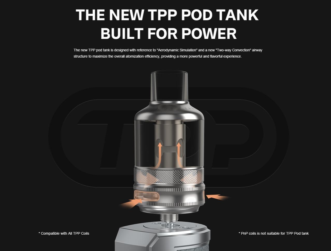 DRAG X Plus with TPP Pod Tank