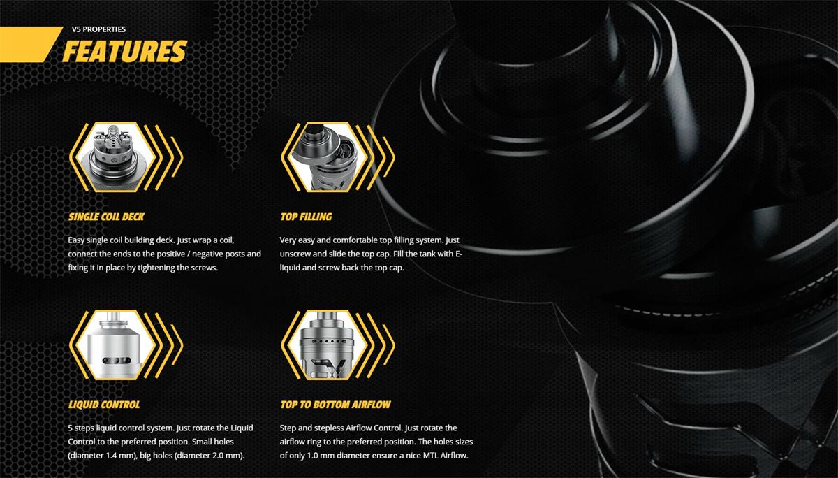 Exvape Expromizer V5 RTA Features