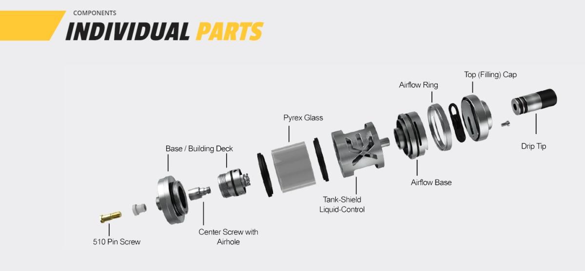 Exvape Expromizer V5 RTA Individual Parts