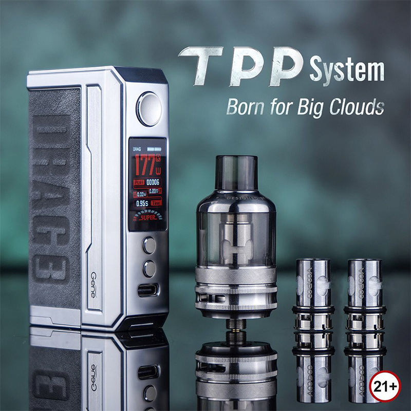 VOOPOO Drag 3 Kit 177W with TPP Pod Tank 5.5ml | Vapesourcing