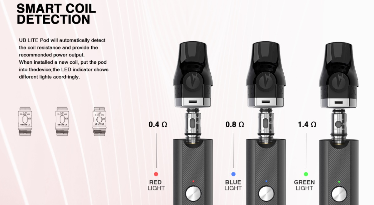 Lost Vape Quest UB Lite Coil Detection