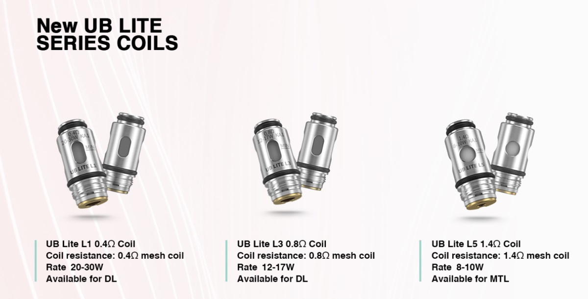 Lost Vape Quest UB Lite New Coils