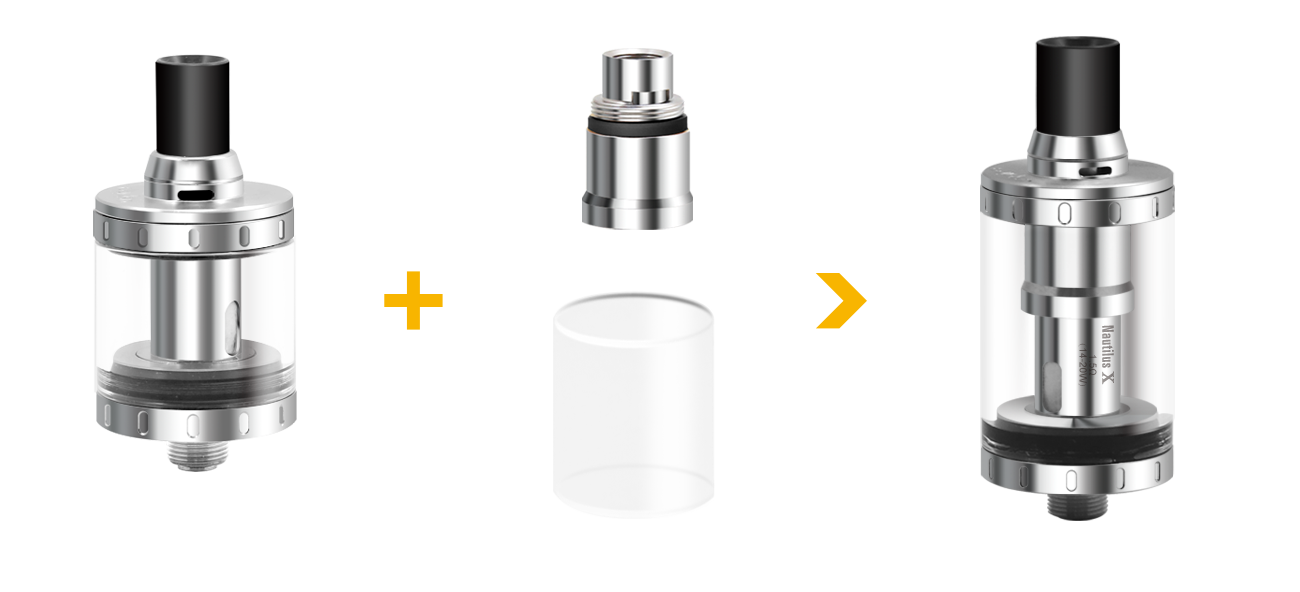 Aspire Nautilus X 4ML Adapter Kit in VapeSourcing
