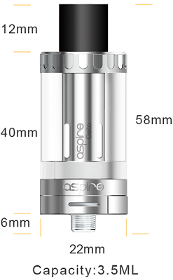 aspire cleito tank in vapesourcing, diameter 22mm
