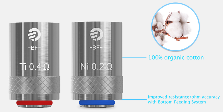 the features of joyetech cubis atomizer head