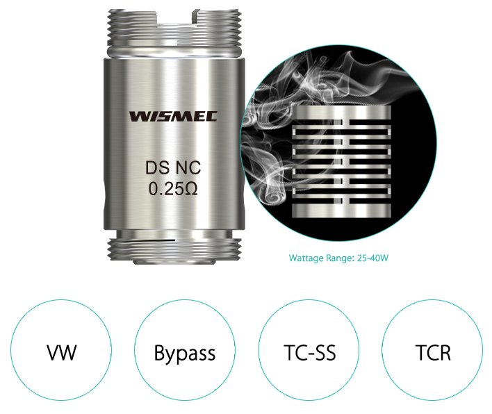Wismec DS NC 0.25ohm Head