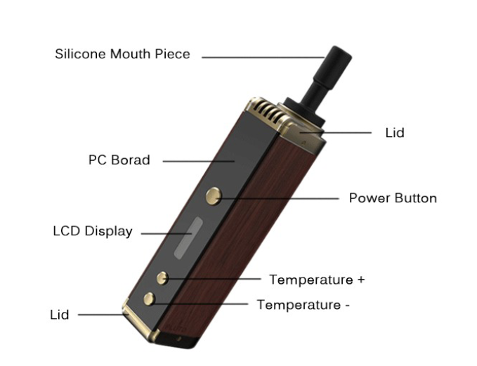 Pluto P8 Wooden Dry Herb Wax Vaporizer in VapeSourcing