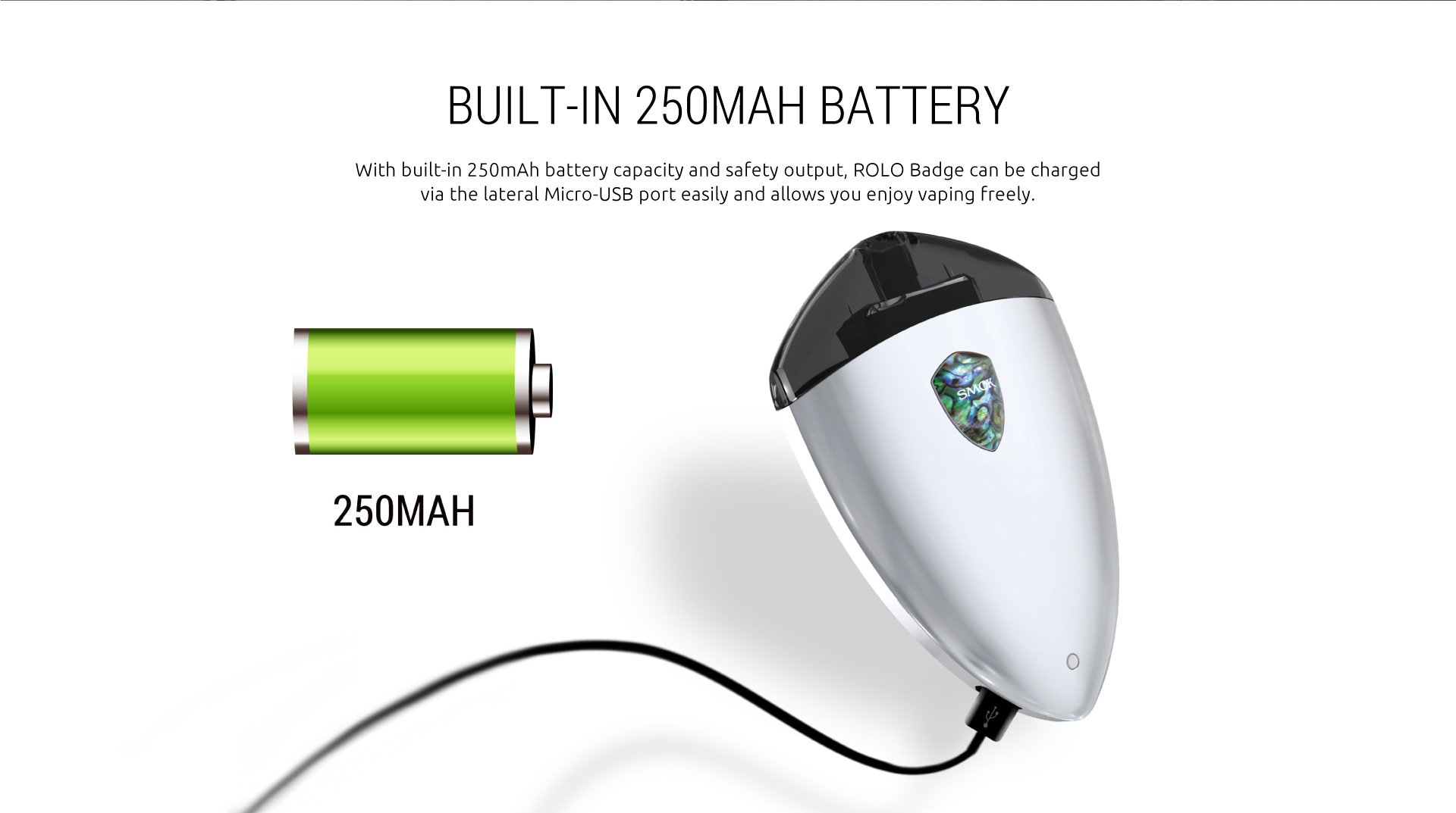 SMOK Rolo Badge built-in battery