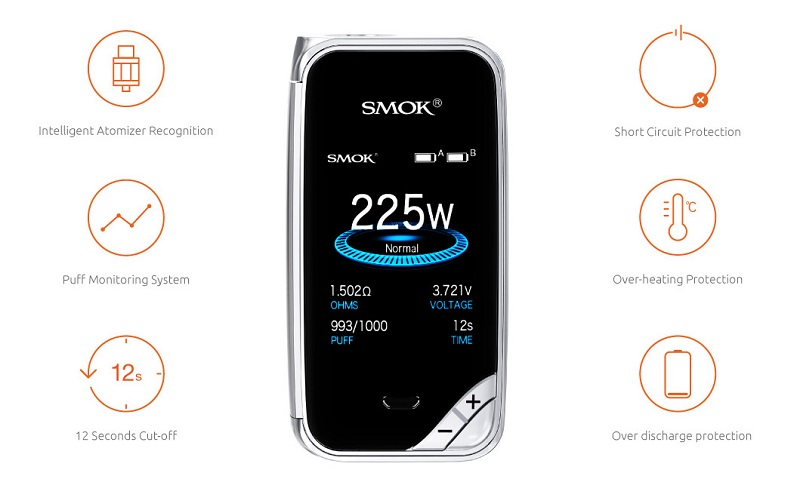 SMOK X-PRIV Kit Protections