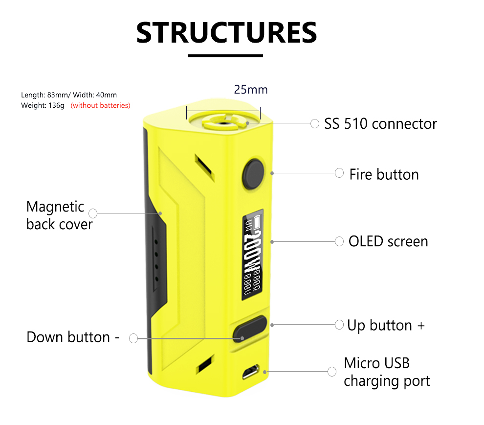 top Smoant Battlestar 200W TC Box Mod