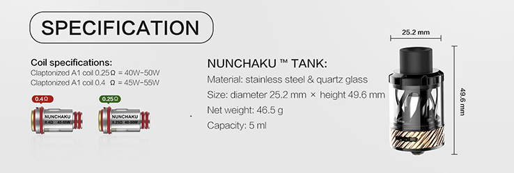 Uwell Nunchaku Atomizer
