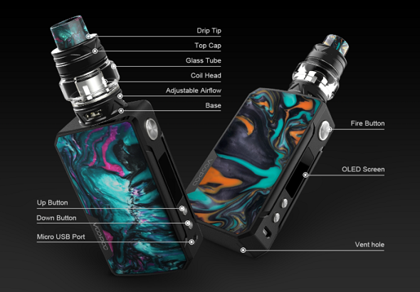 VOOPOO Drag 2 Kit with Uforce T2 Tank