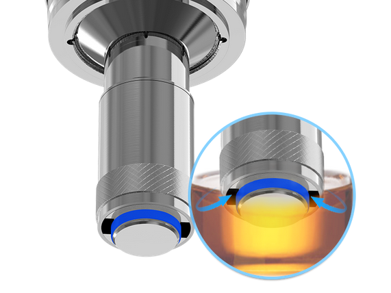 the e-juice filling bottom feeding system of cubis tank in vapesourcing