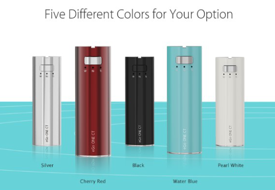 Equipped qith Joyetech Constant Temperature technology, eGo one CT, presents you with CT-TI (Titanium) / CT-Ni(Nickel 200) / CW mode in five fashionable colors,