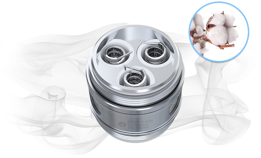 Joyetech MGS Triple 0.15ohm head (70-260W) in Vapesourcing