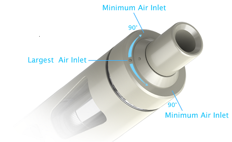 adjustment of air inflow for joyetech eGo Aio Kit