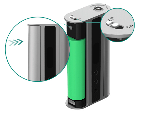 hidden fire button of istick TC 100W
