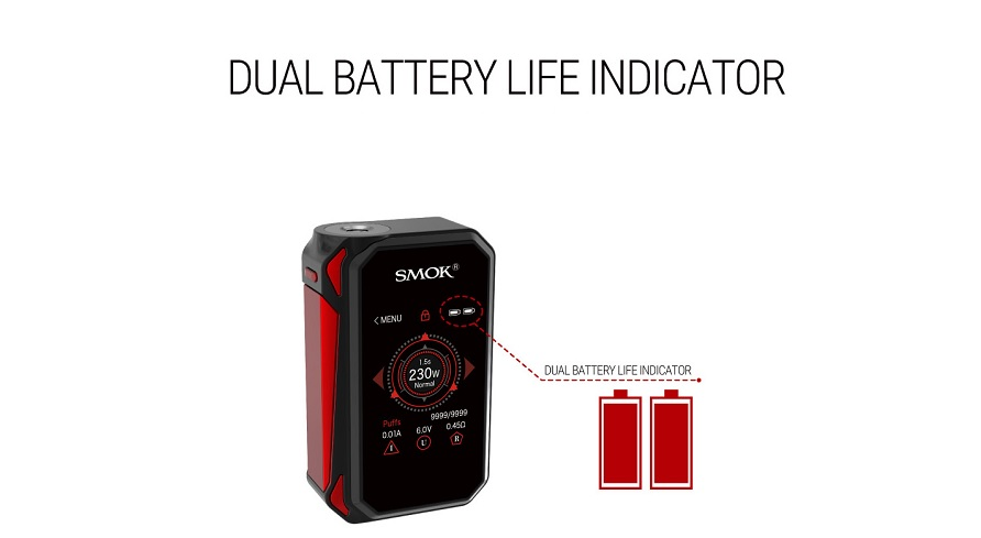 SMOK G-PRIV 2 kit with two battery
