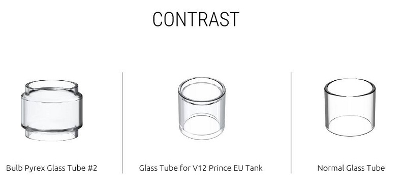 SMOK TFV12 Prince Tank glass tube