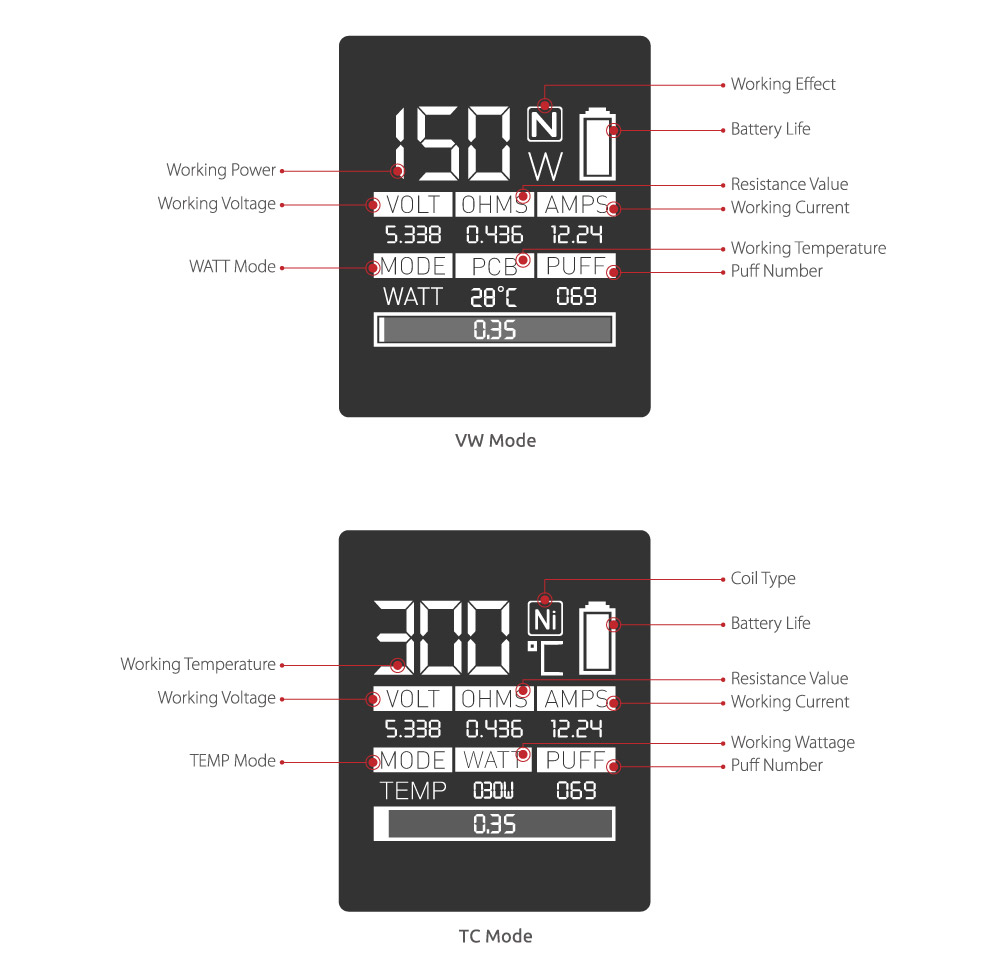 Smok G150 screen