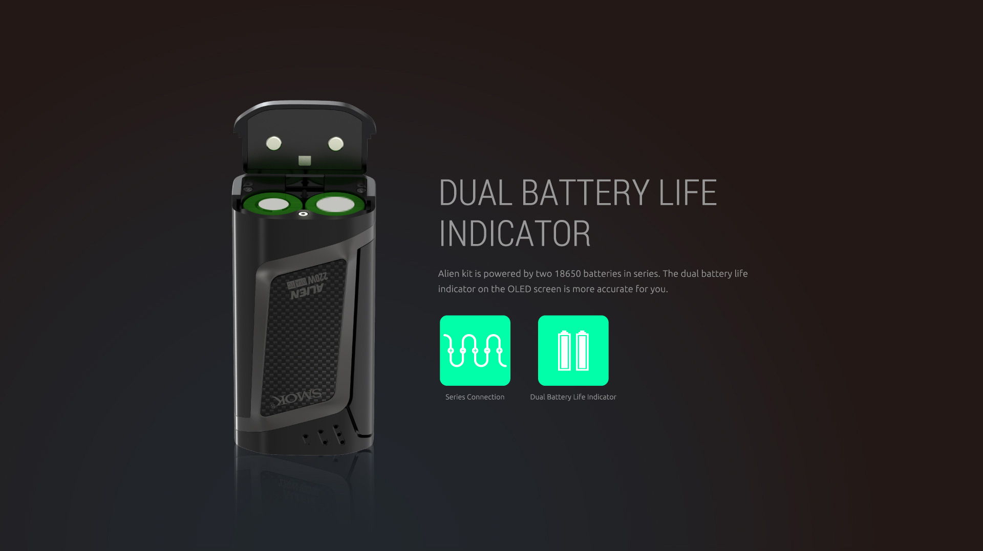SMOK Alien 220W Kit with dual battery