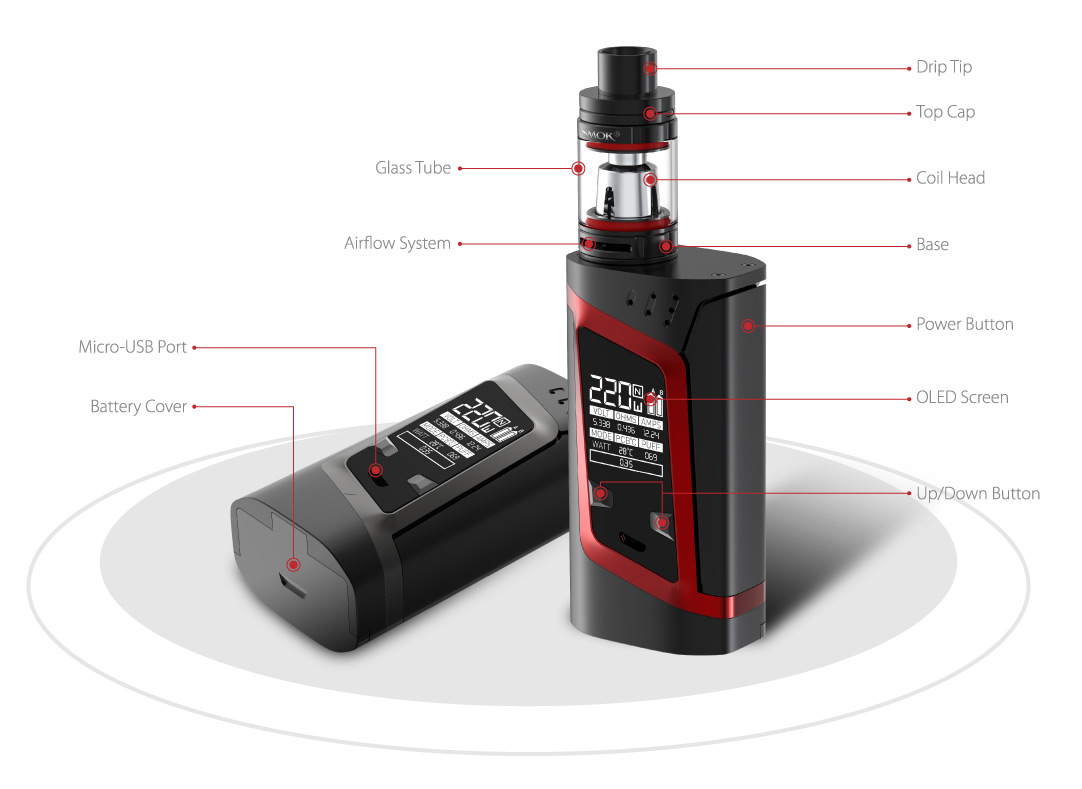 SMOK Alien 220W Kit with TFV8 baby