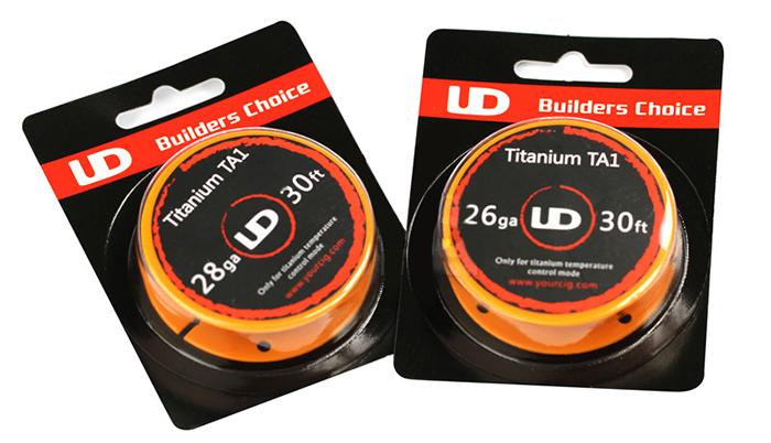 UD 30ft Titanium TA1 26ga/28ga Coil in Vapesourcing