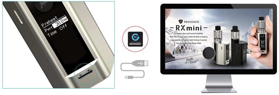 quality Wismec Reuleaux RXmini Kit
