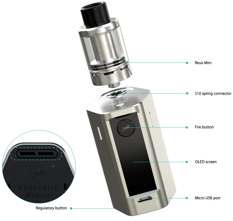 Wismec Reux Mini Atomizer in Vapesourcing