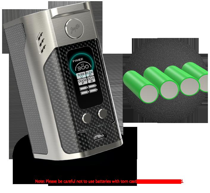 Wismec Reuleaux RX300 TC box Mod-Carbon Fiber
