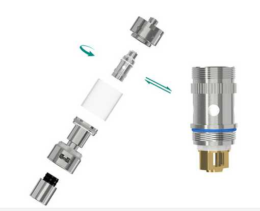 Then screw off the atomizer head from the atomizer base;