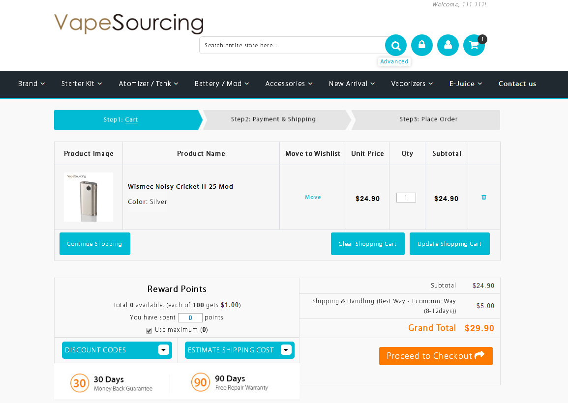 shopping cart credit cart vapesourcing