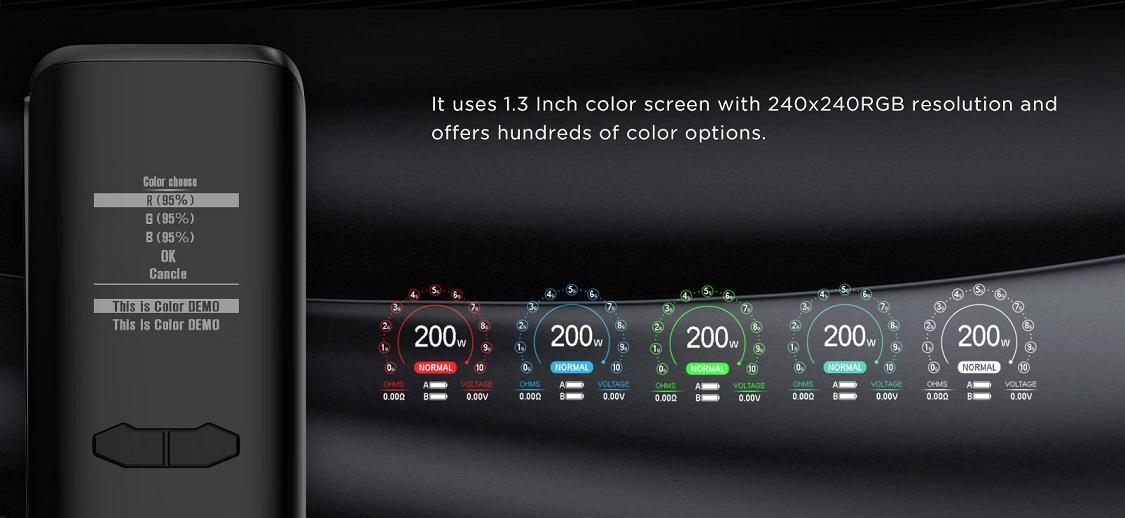 màn hình màu augvape vx200 mod 1.3 Inch