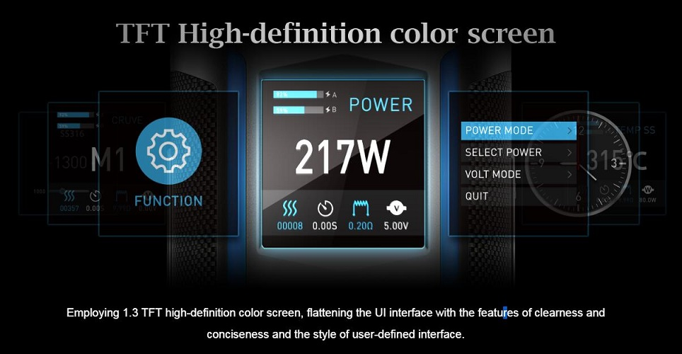 x217 mod with 1.3 TFT color screen
